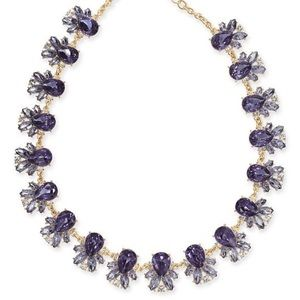 Gold-Tone Purple Crystal All-Around Necklace